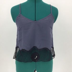 Wilfred Chimere Silk Cropped Camisole, XS